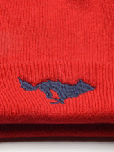 Load image into Gallery viewer, El Solitario Cashmere Beanie Hat Red. Logo
