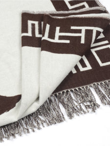 El Solitario Outlaw Blanket Ivory & Chocolate