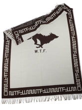 Load image into Gallery viewer, El Solitario Outlaw Blanket Ivory & Chocolate. Logo