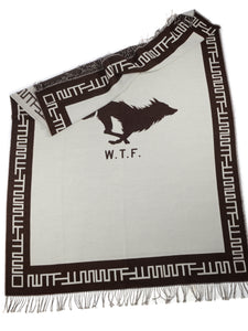 El Solitario Outlaw Blanket Ivory & Chocolate. Logo