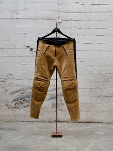 N.O.S. Rascal Leather Motorcycle Pant Beige