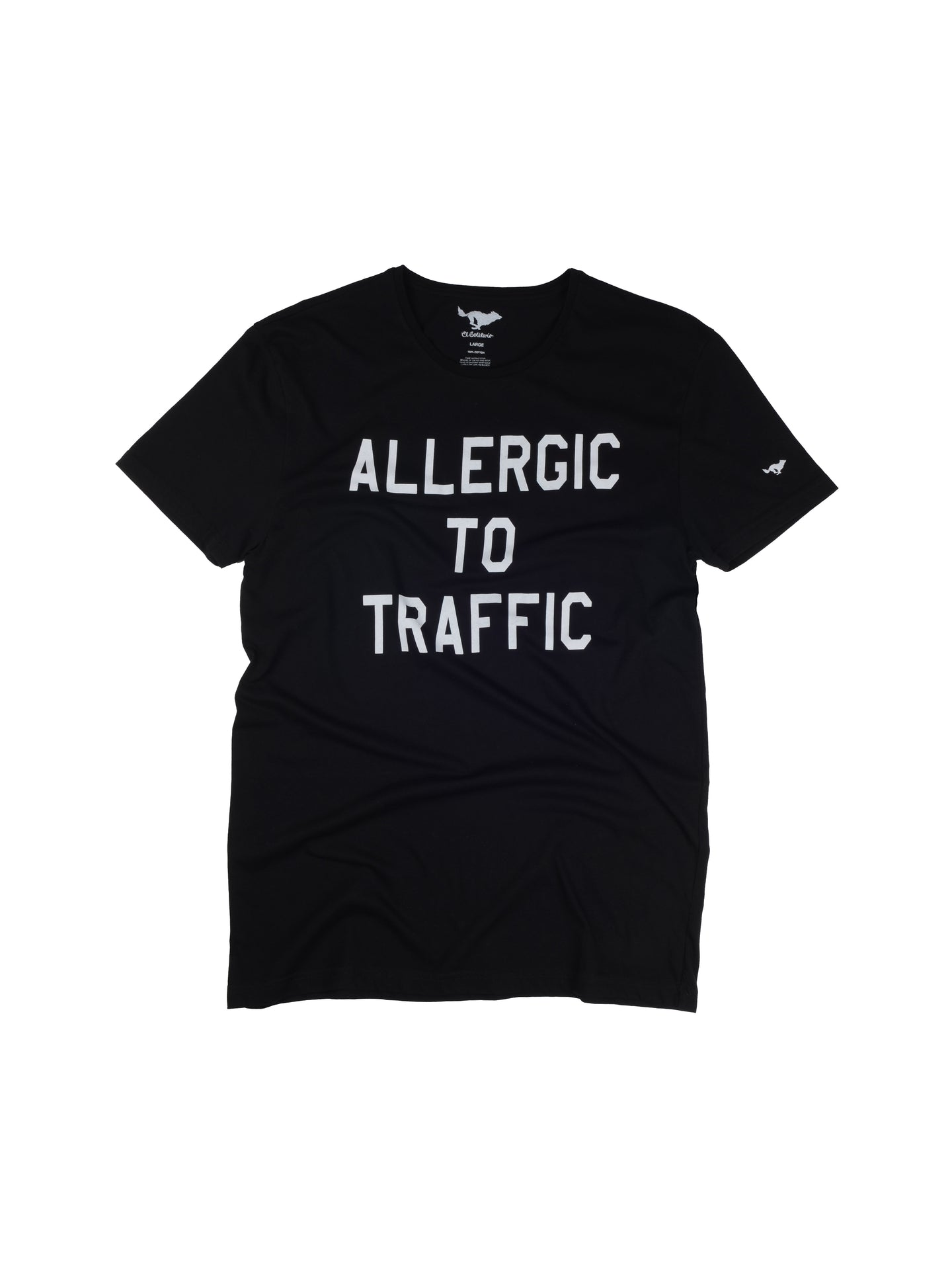 El Solitario Allergic Black T-Shirt. Front