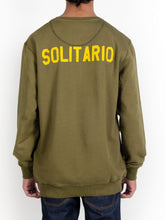 Load image into Gallery viewer, El Solitario Basic Embroidered Green Sweatshirt. Model Back