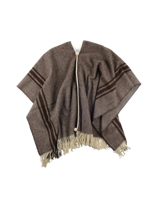 l Solitario Traditional Poncho Brown stripe