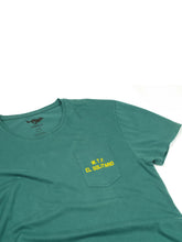 Load image into Gallery viewer, El Solitario Lobo Green T-Shirt. Detail Front