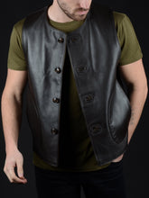 Load image into Gallery viewer, Macone Leather Vest - Lightweight Camo
