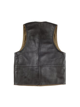 Load image into Gallery viewer, Macone Leather Vest - Lightweight Olive -