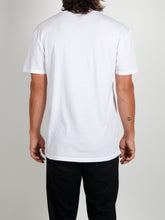 Load image into Gallery viewer, El Solitario Pain White T-Shirts. Model Back