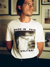 Load image into Gallery viewer, El Solitario Pain White T-Shirts. Rider