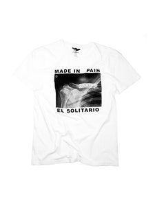 El Solitario Pain White T-Shirts. Front
