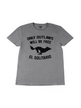Load image into Gallery viewer, El Solitario Outlaws Grey T-Shirt. Front