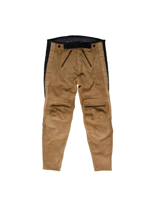 El Solitario Rascal Leather Motorcycle Pants Beige