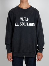 Load image into Gallery viewer, El Solitario WTF Black sweatshirt. Front Model