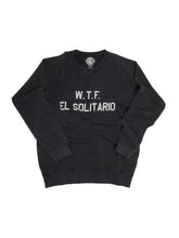 Load image into Gallery viewer, El Solitario WTF Black sweatshirt. Front