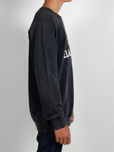 Load image into Gallery viewer, El Solitario WTF Black sweatshirt. Model Sleeve