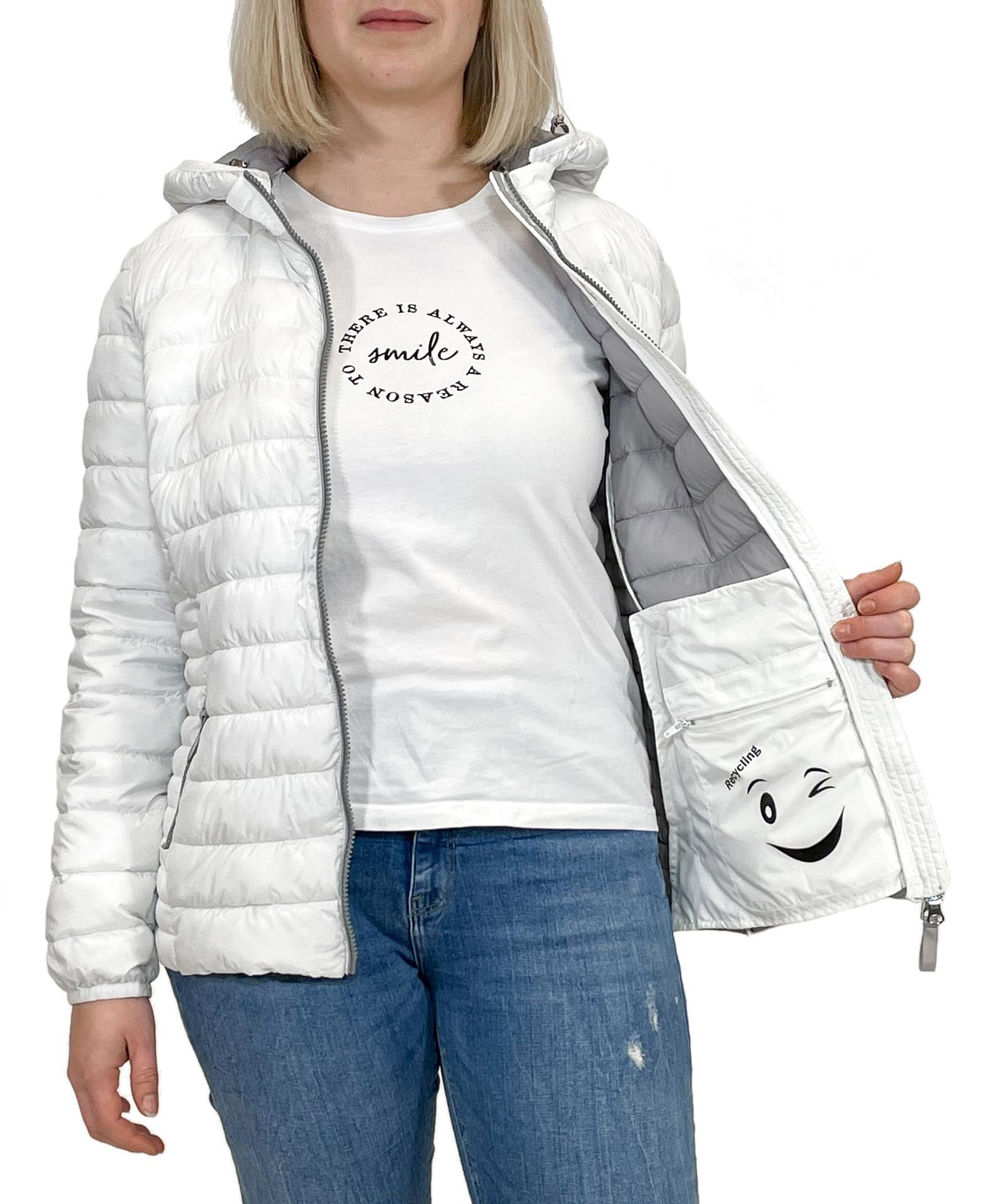 Steppjacke Recycling weiß