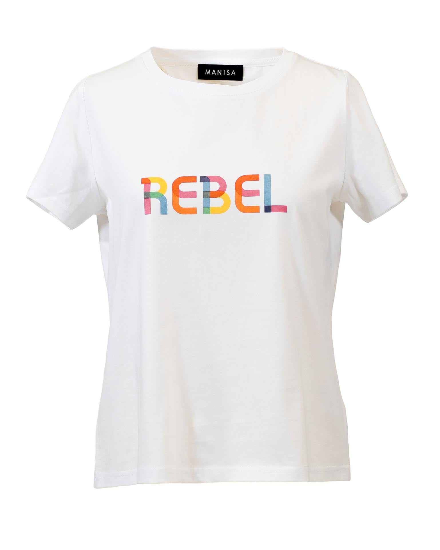 Statement Shirt Rebel weiß