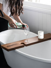 Load image into Gallery viewer, SOLID HARDWOOD TIMBER BATH CADDY