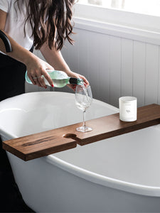 SOLID HARDWOOD TIMBER BATH CADDY