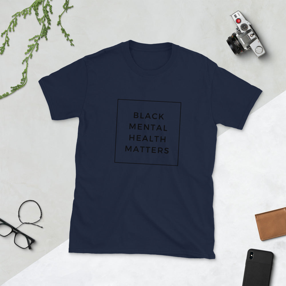 Celebrate Black Mental Health, words in clear box