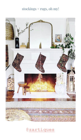 vintage persian rugs + custom stockings from zartiques