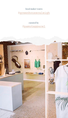 shop local at greenhouse -- a collection from pamut apparel