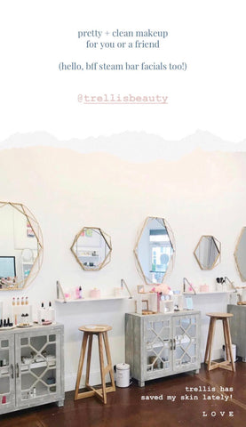 shop small at trellis beauty for clean skin care + make up