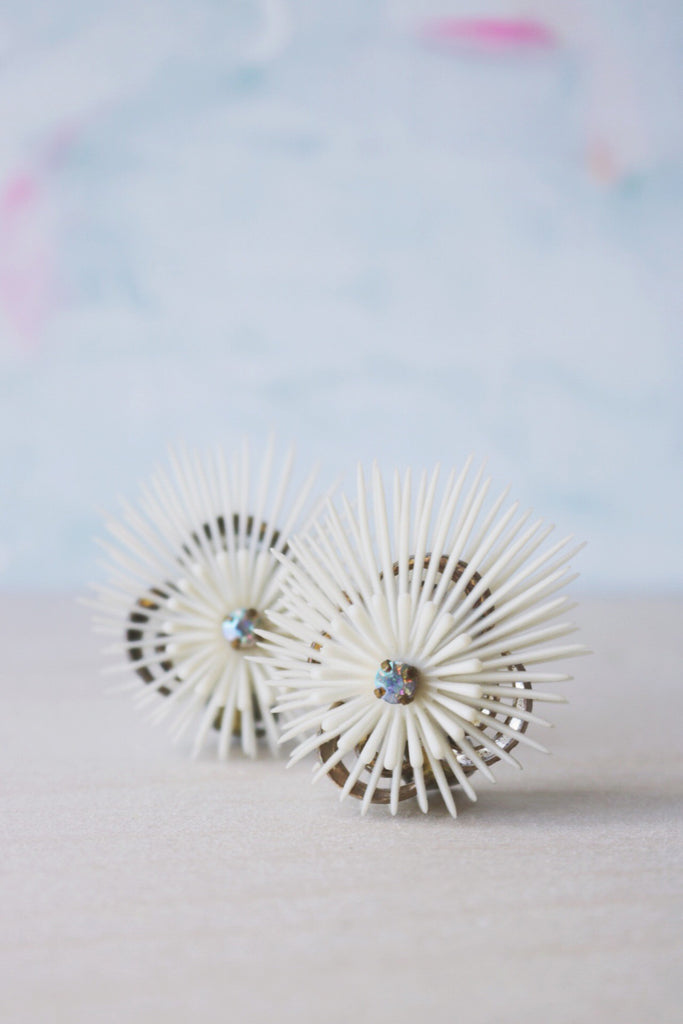 wild urchin earrings