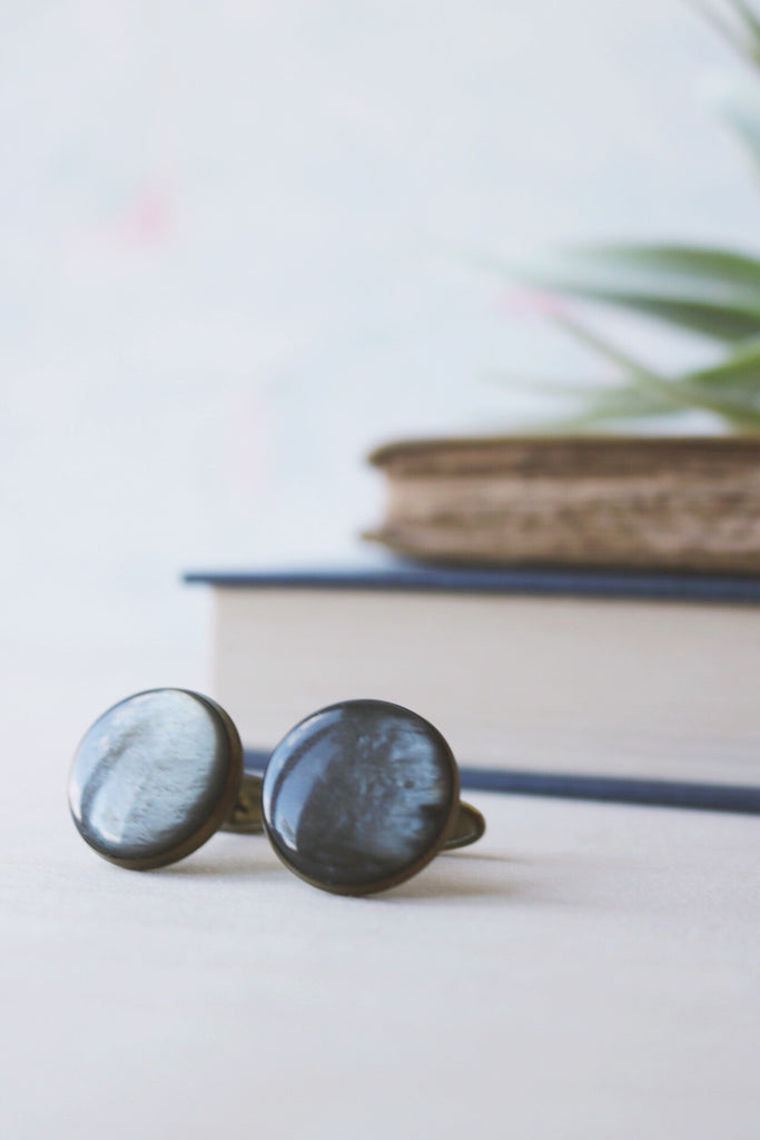 vintage grey cuff links