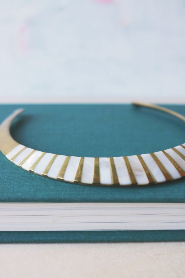 sunray cuff necklace