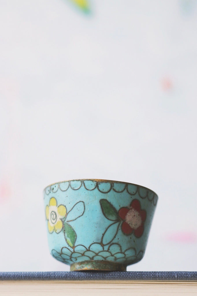 qing floral cup