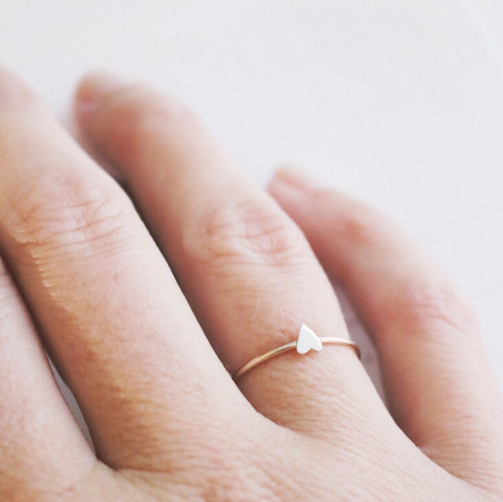 lil pretty heart ring
