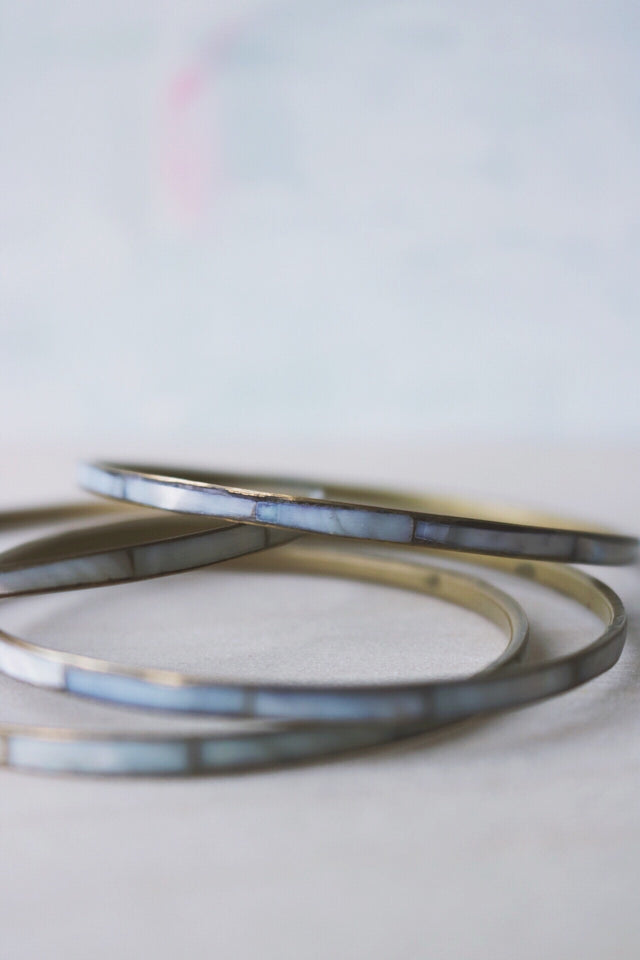 grey blue bangle
