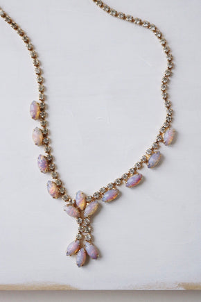 pink fire opal necklace