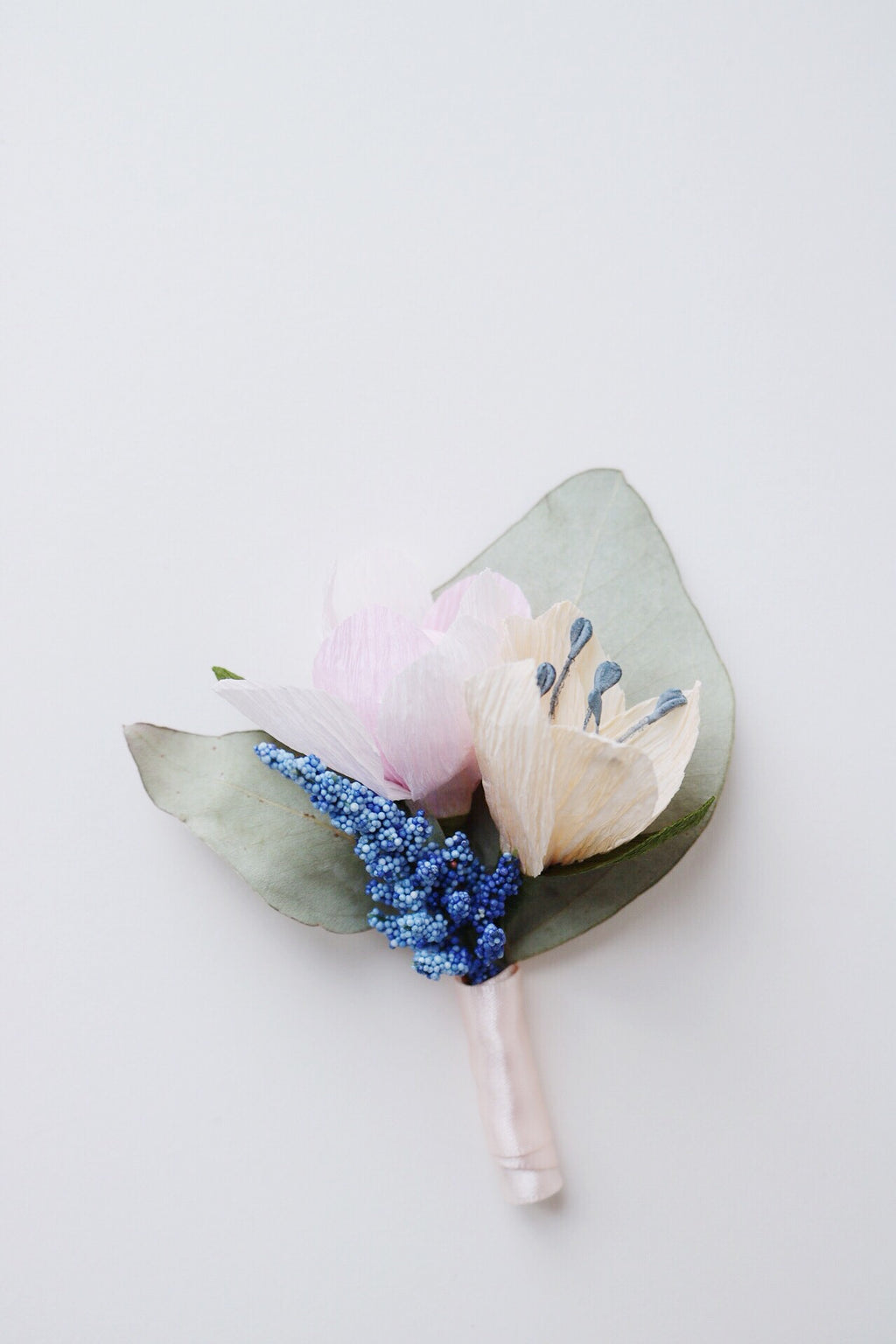 paper flower boutonniere