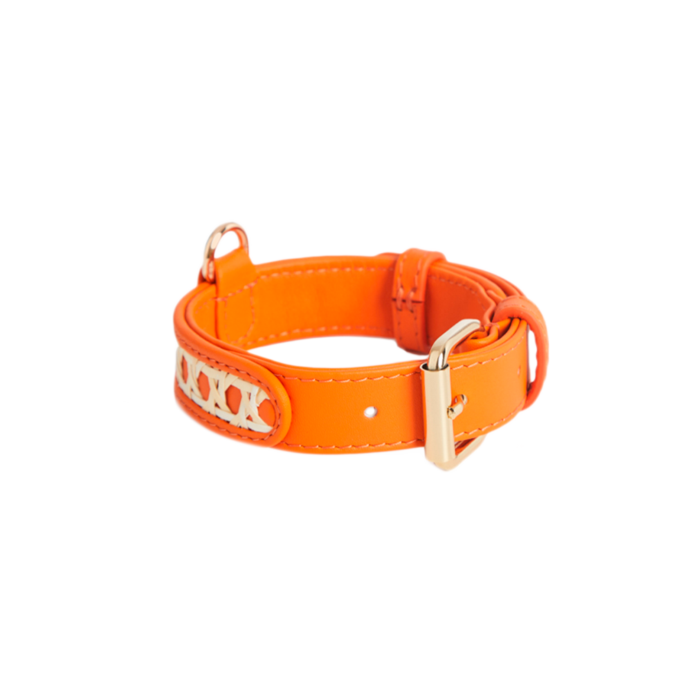 Leather Dog Collar, Tan