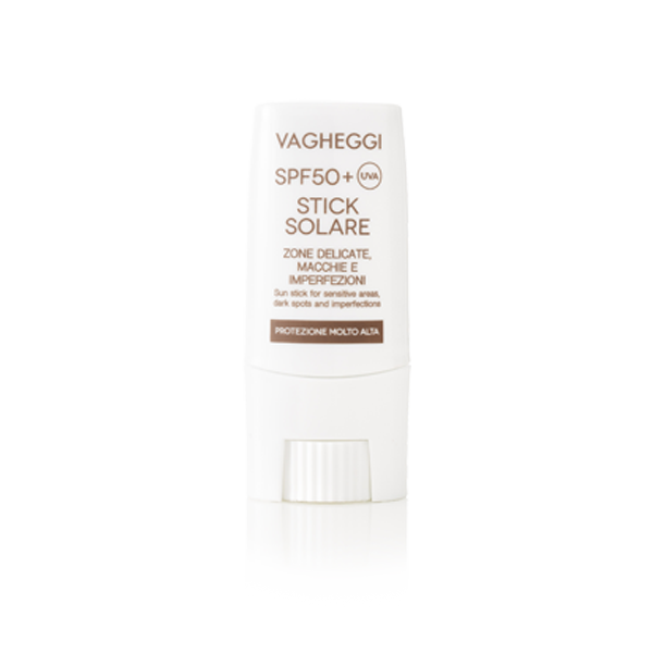 Vagheggi - Sun Stick for Sensitive Areas, Dark Spots and Imperfections SPF 50 + Very High Protection Water Resistant 9 ml