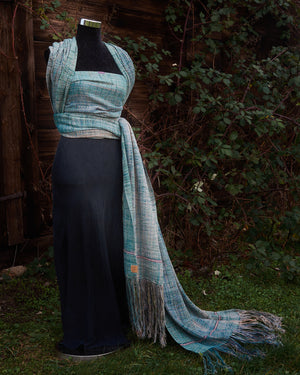 "Silk & Cashmere Baby Wrap ""Moonlit"""