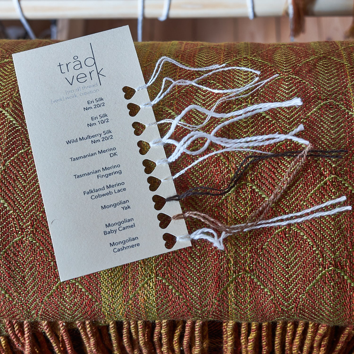 tradverk Yarn Sample Card