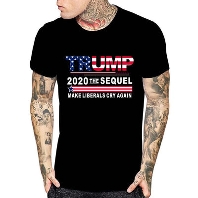 Donald Trump President T shirt Funny 2020 Elections Make Liberals Cry Again Shirt2019 Latest Men Tee Shirt Fashion Printed