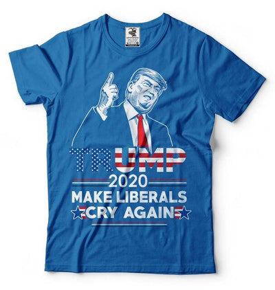 Donald Trump Maga T-Shirt Funny 2020 Elections Make Liberals Cry Again T Shirts 2019 Fashion Brand Men'S Wear T-Shirt