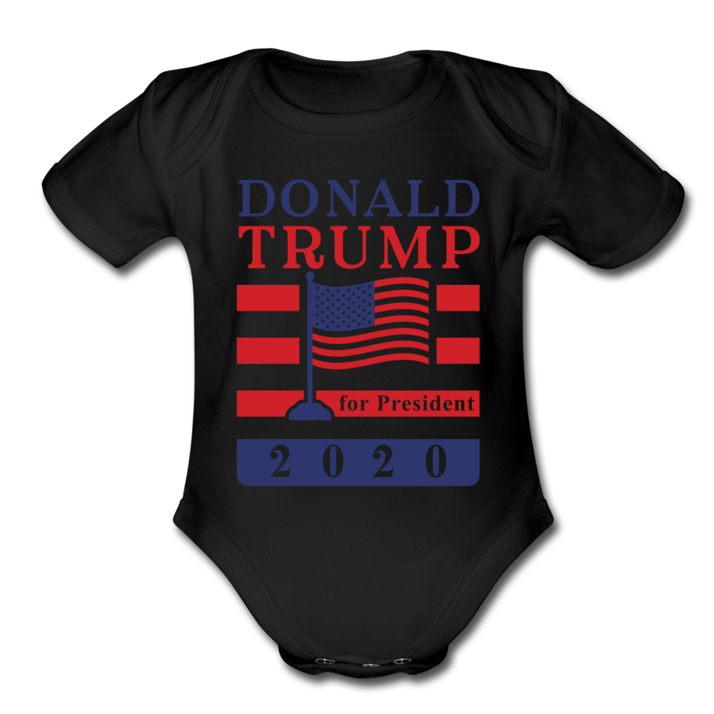 Donald Trump for President 2020 Organic Cotton Baby Onsie - black