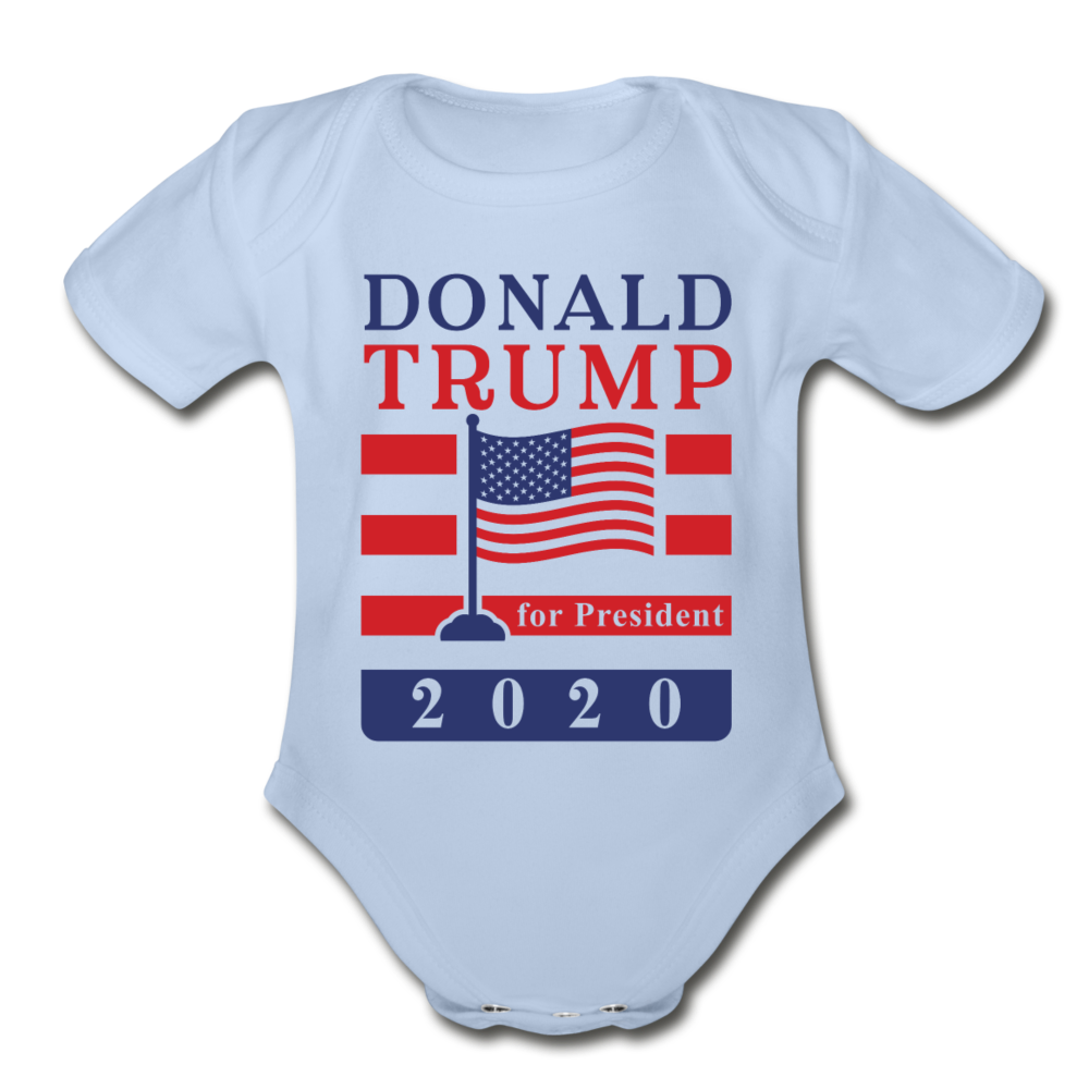 Donald Trump for President 2020 Organic Cotton Baby Onsie - sky
