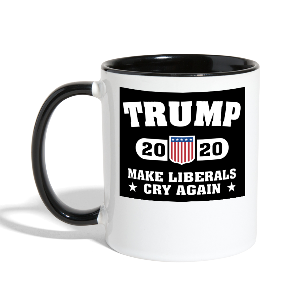 Trump 2020 Make Liberals Cry Again Coffee Mug - white/black
