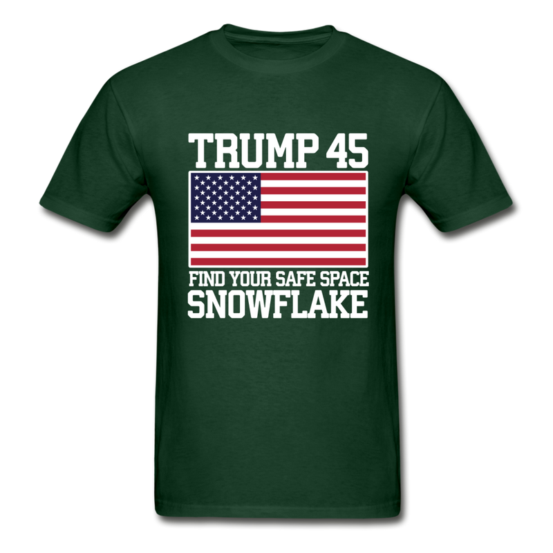 Trump 45 Find Your Safe Space Snowflake T-Shirt - black