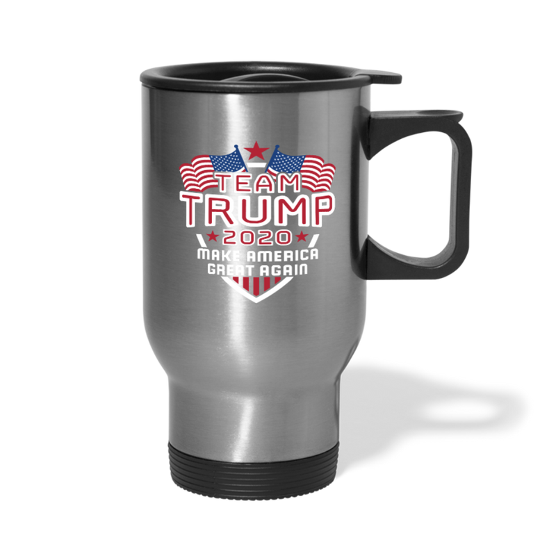 Team Trump 2020 Make America Great Again Travel Mug - silver