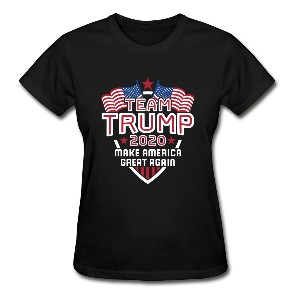 Team Trump 2020 Make America Great Again Women's T-Shirt - black