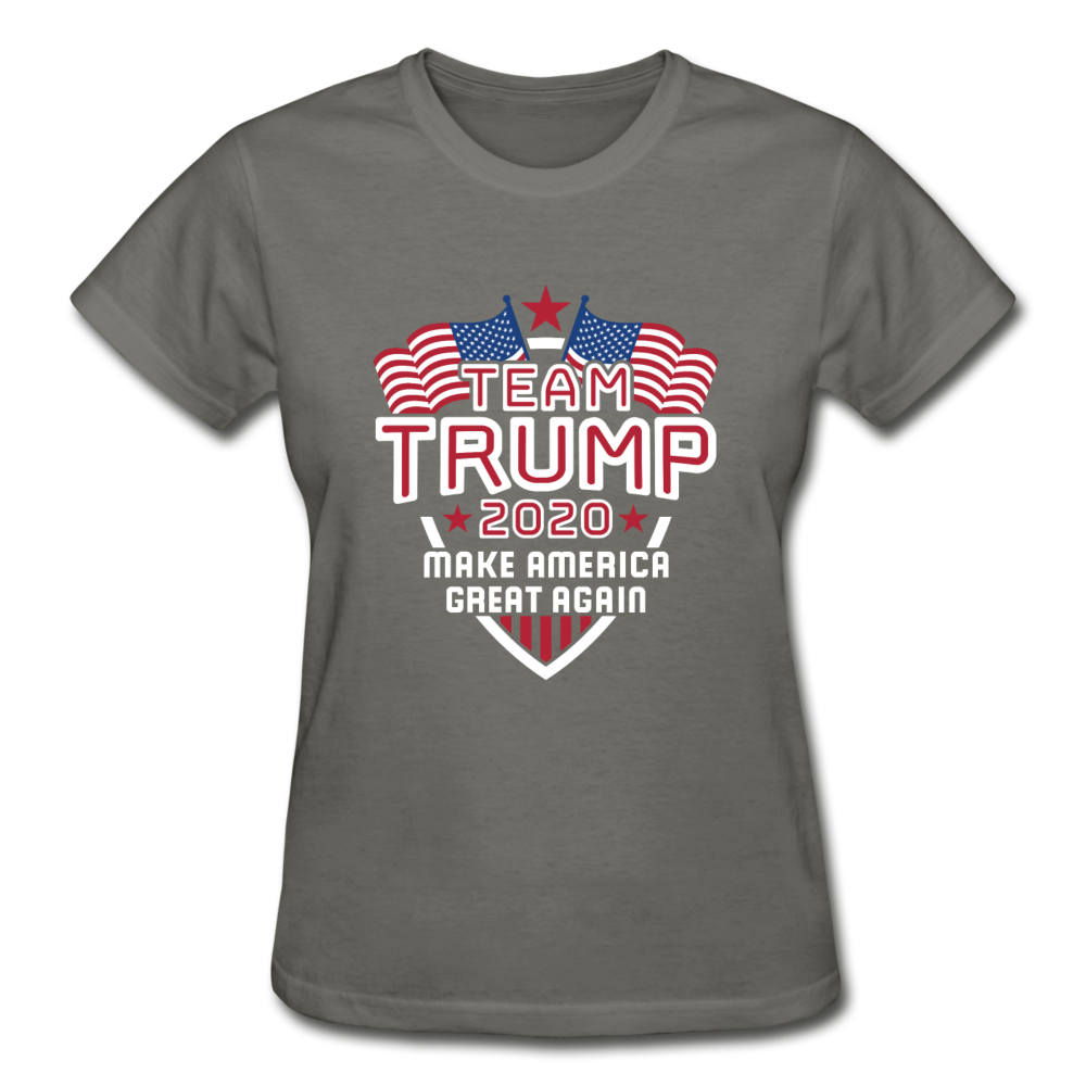 Team Trump 2020 Make America Great Again Women's T-Shirt - charcoal