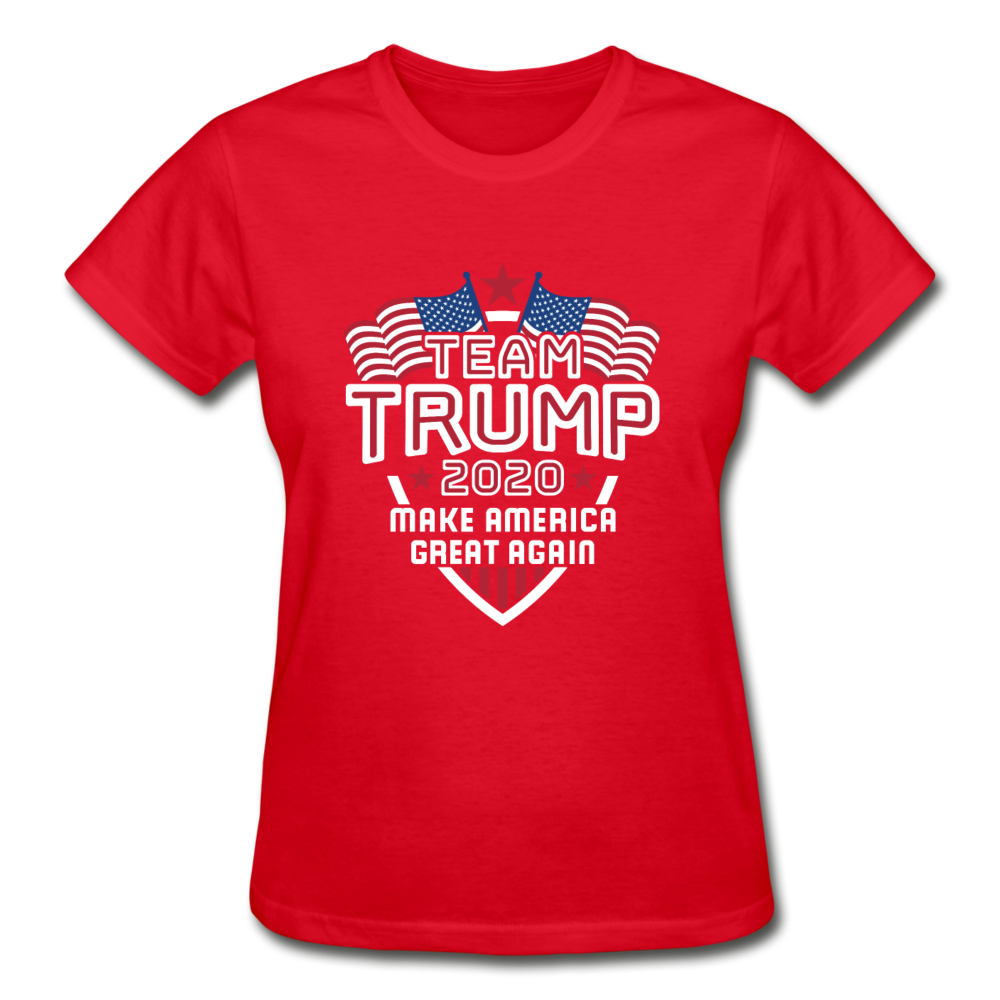 Team Trump 2020 Make America Great Again Women's T-Shirt - red