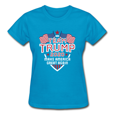 Team Trump 2020 Make America Great Again Women's T-Shirt - turquoise